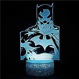 Lampe à illusion visuelle 3D Batman M Illusion 3D Lampe de nuit LED pour chambre d'enfant Décoration lampes créatives