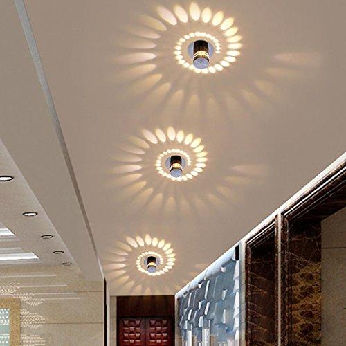 3W LED Deckenleuchte Innenbeleuchtung Unterputz Rahmen Lampe LED Modern Runde Deckenlampe für Flur, Vorraum ø5.5 cm Aluminium