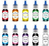 JIM'S STORE Colorante Alimentario 10*6ml, Set de Colorante Alta Concentración Liquid para Colorear...