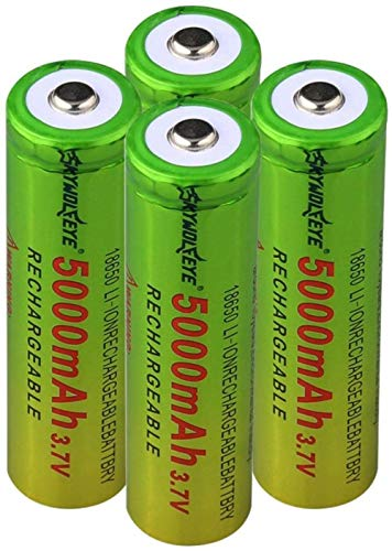 3.7v 5000mah 18650 batería de Carga de Litio baterías Recargables celda de Iones de Litio para Linterna 4pcs