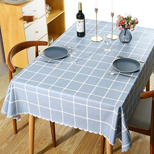 Traann tafelkleed, kunststof, helder, vierkant Wipe Clean, vinyl / tafelkleed van kunststof, blauw