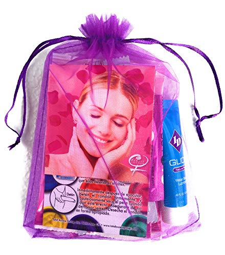 Female Internal Latex-Free Condoms, Flavored Dental Dams, Male Condoms, Finger Condoms, with Travel Size Lubricant
