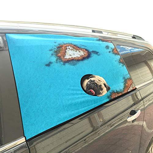 Australien Great Barrier Reef Coral Faltbarer Hund Sicherheit Auto Gedruckt Fenster Zaun Vorhang Barrieren Protector Für Baby Kind Einstellbare Flexible Sonnenschutzabdeckung Universal Fit Für Suv