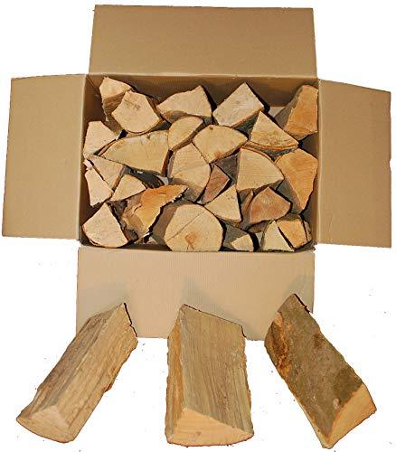 BUCHE Kaminholz, Brennholz 20Kg -gut zu tragen-, Feuerholz, Grillholz, ofenfertig, 25cm Scheitlänge direkt vom Familienholzhof aus SH (Buche)