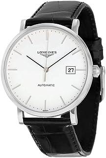 Longines Elegant White Dial Black Alligator Leather Automatic Mens Watch L49104122