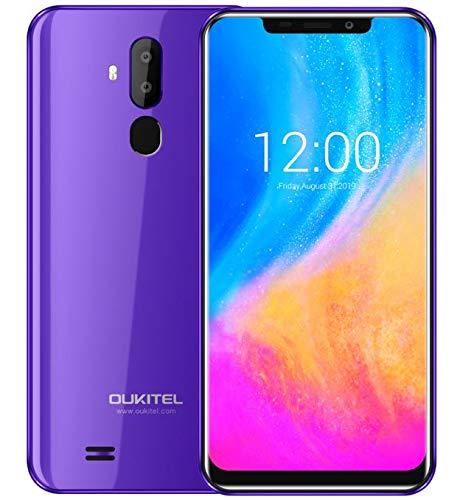 Cellularein Offerta, OUKITEL C12 Android 8.1 Smartphone con Doppia SIM - 6.18' U-notch Schermo Telefono,Quad Core 2GB + 16GB, Riconoscimento facciale, Fotocamera Tripla, Impronte Digitali GPS - Viola
