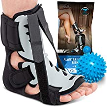Plantar Fasciitis Night Splint - Adjustable Foot Drop Support for Plantar Fascia, Arch Pain, Achilles Tendonitis - Fits Women and Men (Small/Medium)