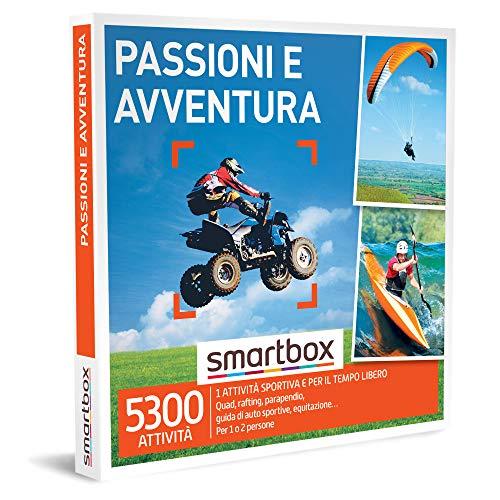 Smartbox - Passioni e Avventura - Cofanetto Regalo per Uomo, 1 Attività Sportiva per 1 o 2 Persone, Idee Regalo Originale per Lui