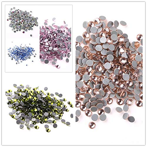 Xuccus Hot Fix Stone SS6(1.9-2.0mm) 1 Bag Gray Glue Crystal All Color Rhinestones Iron on Clothes Shoes Garments Best - (Color: Peridot, Size: 1.9-2.0mm, Number of Pcs: 1440Pcs)
