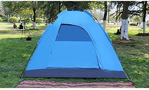 HONEYY Tente de Camping en Plein air 3-4 Personnes Camouflage tentes Parasol imperméable Complet Ultra-léger-hayaaki Automatique 200 * 210 * 145cm C