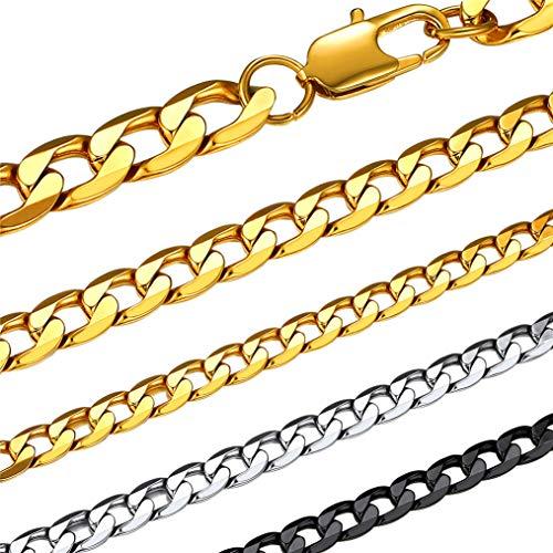 Bandmax 喜平 ネックレス チェーン メンズ ゴールド 18金 18k 6mm 50cm 細め 金属アレルギー対応 シンプル カジュアル かっこいい ファッション アクセサリー 男性