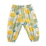 UMore Niños Niñas Pantalones Largos Pantalón Casuales Verano Pantalones de Protección Solar Anti-Mosquitos Elástico Harem Pantalones Bloomers Pantalones Deportivos de Yoga