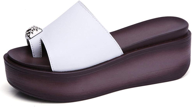 Zarbrina Platform Wedge Sandals for Women Thick Soled Ring Toe Flip Flops Summer Slides Sandal Rubber Sole Outdoor Summer Beach shoes