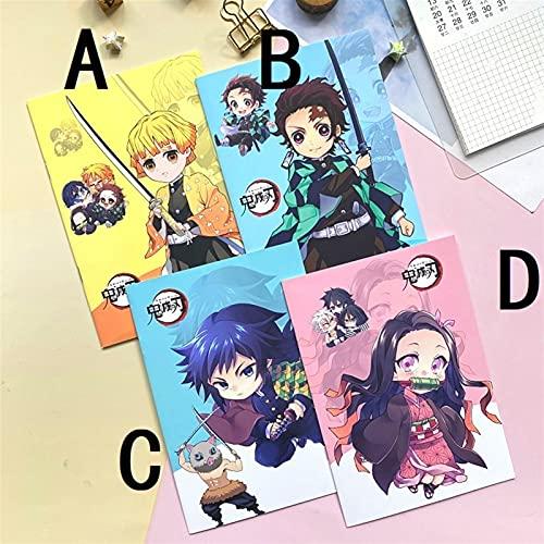 YSJJUSZ Diario A5 Anime Bloc de Notas Duro Cuaderno Memo Time Organizer Niños Boy Girl Regalo (Color : D 1 Pcs, Size : A5)