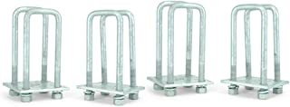 Sturdy Built Tandem Axle Galvanized U Bolt Kit for mounting Boat Trailer Leaf Springs for 2x3 axle - 6 1/4