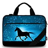 AUPET 11 11.6 12 12.5 12.9 13-13.3 inch Canvas Laptop Sleeve Bag Carrying Messenger Bag Briefcase with Handle and Adjustable Shoulder Strap & External Side Pocket,For ASUS/HP/DELL/Acer (Horse)