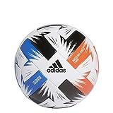 Adidas Tsubasa Lge, Palla da Calcio Unisex Adulto, White/Solred/GLOBLU/B, 5