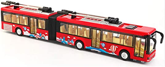 Chinashow Pull Back Die Cast Metal City Bus Model Car Toy Pull Back Car Toys Play Vehicles, Red Articulated Electric Bus
