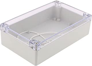 Saim 200x120x56mm Transparent Cover Waterproof Connecting Box Waterproof Project Enclosure Case