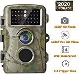 AlfaView Trail Camera 12MP 1080P Wildlife Scouting Hunting Camera Motion Activated Night Vision