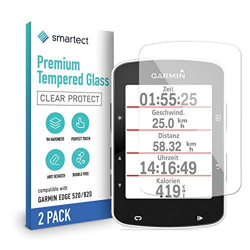 smartect Panzerglas kompatibel mit Garmin Edge 520 820 [2 Stück] - Tempered Glass mit 9H Härte - Blasenfreie Schutzfolie - Anti Fingerprint Panzerglasfolie