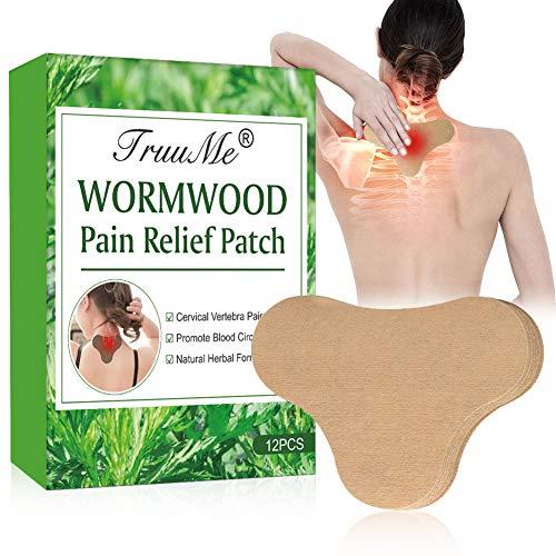SchmerzlinderungPatch, PainReliefPatch, Wärmepflaster, Schmerzlinderung für Nacken und Schulter,Selbstklebend Muskelgelenke Entspannung Schmerzlinderung Pflaster,12 Stück