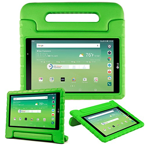 Bolete Case for LG G Pad X 8.0 Inch - Kids Tablets Cases with Handle Stand for LG T-Mobile V521 / AT&T V520, EVA Foam Cover Shock Proof Light Weight Washable Protector - Green
