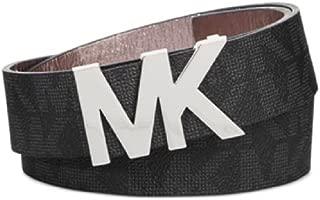 Womens Belt, Signature Logo Wide Belt - Black