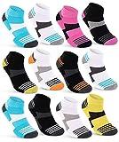 sockenkauf24 6 oder 12 Paar Sneaker Socken Damen Sportsocken verstärkte Frotteesohle 36850/26 (39-42 6 Paar)