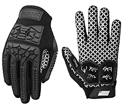 cheap Seibertron Lineman 2.0 Football Palm Receiver Glove Padded, TPR Impact Resistant Flexible Back…