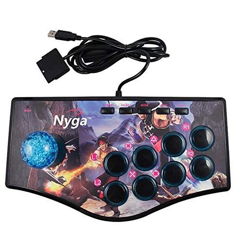 YIYIO Retro Joystick de Usb Del Controlador de Juegos de Arcade Rocker para Ps2 / Ps3 / Pc / Android Tv Vibrador Incorporado Joystick de Ocho Direcciones (No.A)