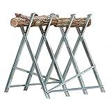 Chevalet de sciage du bois porte bûches pliable