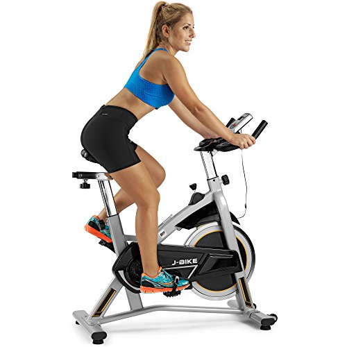 BH Fitness J-Bike H9135RF - Bicicleta Ciclismo Indoor - 18 Kg Volante inercia - Ideal para iniciación