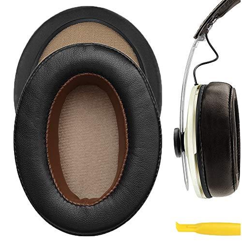 Geekria - Cuscinetti di ricambio per padiglioni auricolari cuffie sovraurali Momentum 2.0, colore: marrone scuro