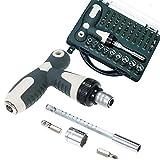 LONGWDS Destornillador 41 en 1 Juego de controlador de destornillador de trinquete de precisión, herramienta de reparación de electrónica de destornilladores magnéticos retráctiles para aire acondicio