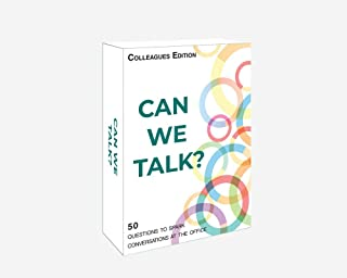 Words Well Said | Can We Talk Cards Colleagues Edition: 50 Questions for Team Building, Networking, and Ice Breaker Activities