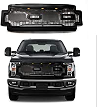 Prestige Grille Compatible with Ford F250 F350 F450 Super Duty Raptor Style Grille Includes F+R - BLACK - Fits 2017-2019