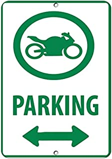 UKSILYHEART Metal Sign 8x12 Inches NINJA ZX-6R Parking Only All Others Will Be Towed Motorcycle Bike Super Bike Chopper Novelty Garage Prompt slogan Sign Plate