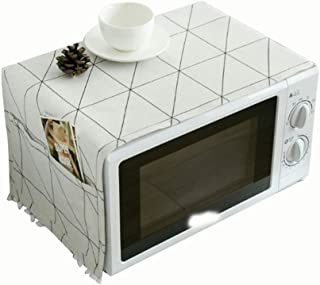 Cotton towel bath towel Black And White Geometrical Design Multi-function Microwave Oven Electrical Oven Cover Cloth Dust Cover Oil-proof Printing Cover Cloth SHENKAI