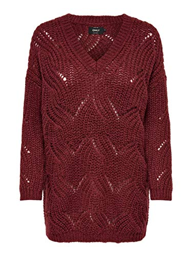 ONLY Damen Strickpullover Lockerer XSMerlot