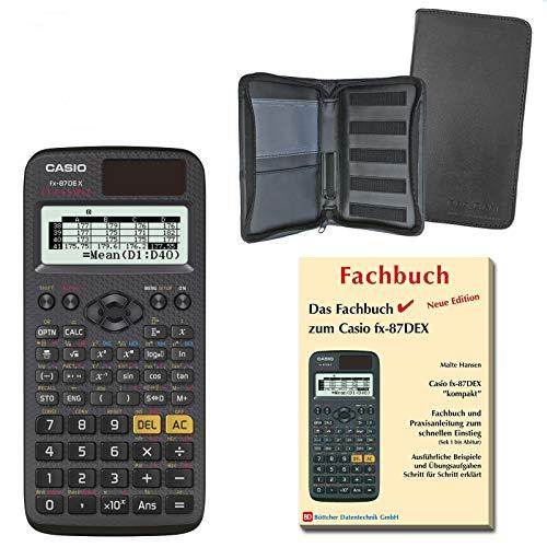 Casio FX-87DE X (SCHULpaket) + Erweiterte Garantie + Schutztasche + Fachbuch : calcumio Artikel Set