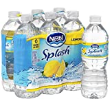 NESTLE SPLASH Water Beverages with Natural Fruit Flavors, Lemon 16.9-ounce plastic bottles, 6 ct