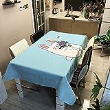 YATING Cartoon Cat Series Polyester Tischdecke Haushalts Polyester Rechteck Tisch Tisch ZB2035-9...