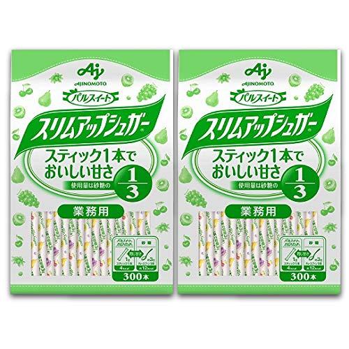 味の素 パルスイート スリムアップシュガー スティック 袋 300本入×2個