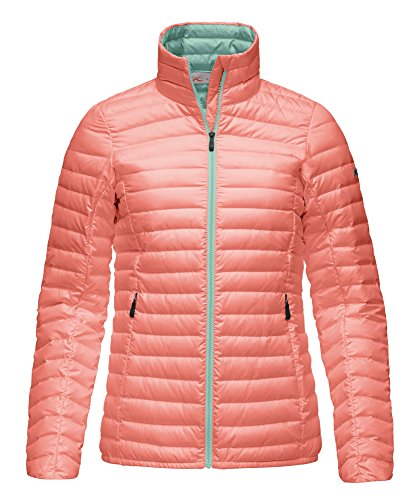 Kjus Ladies Cypress Down Jacket - Light Coral / Tender Green - 40 - Leichte warme Damen Daunenjacke
