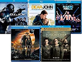 Channing Tatum Movies on Blu ray 5-Film Collection - G.I. Joe: The Rise of Cobra/ Dear John/ Magic Mike/ Jupiter Ascending...
