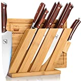 Knife and Cutting Board Set, imarku 10 Piece Kitchen Knife Set with Block, Japanese German Chef...