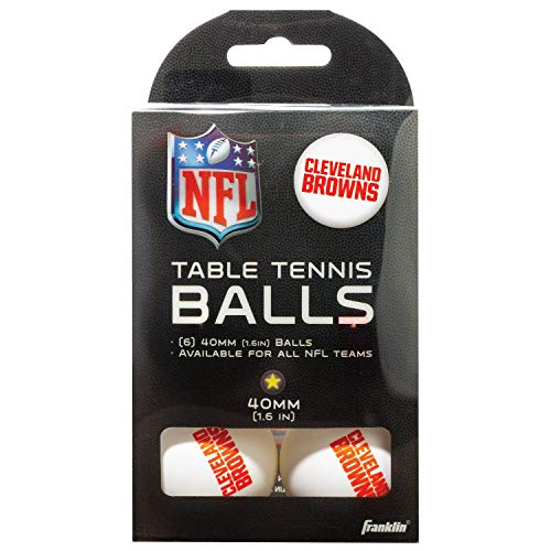 Franklin Sports Cleveland Browns Table Tennis Balls - NFL Team Table Tennis Balls - Official Team Logos and Colors - Fun NFL Game Room Accessories