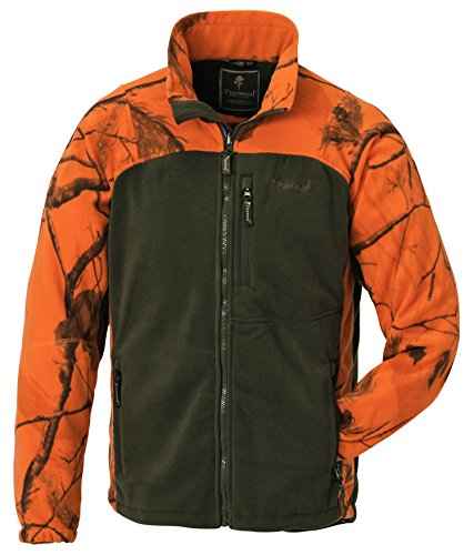 Pinewood Kinder Fleecejacke Oviken Kids Fleece Jacket, Realtree AP Blaze HD/Jagdgrün, 176