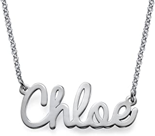 MyNameNecklace Personalized Cursive Name Pendant Necklace-Nameplate Christmas Jewelry Gift